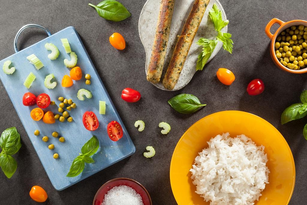 warzywne risotto przygotowanie